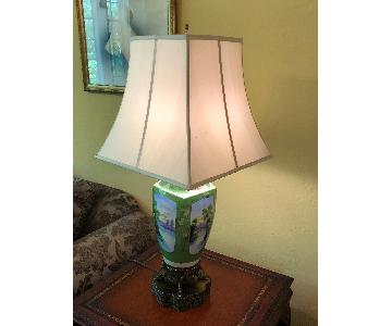Hand-Painted Porcelain Table Lamp