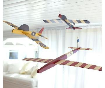 Pottery Barn Hanging Clipper Planes