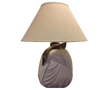 Table Lamps w/ Ceramic Base & Brass Hardware