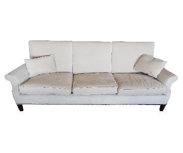 Custom off-White Upholstered Sofa