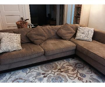 Bauhaus Microsuede 2-Piece Sectional Sofa