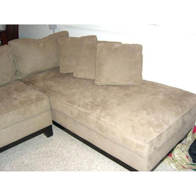 ... Bauhaus Microsuede 2 Piece Sectional Sofa 1 ...