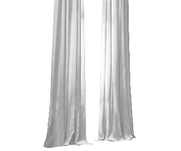 Restoration Hardware Belgian White Linen Curtains