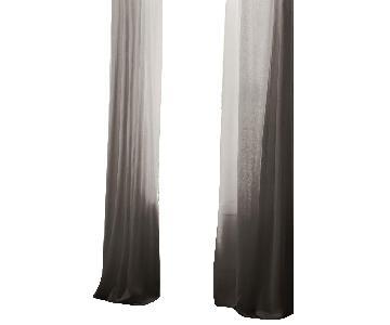 Restoration Hardware Belgian Grey Linen Curtains