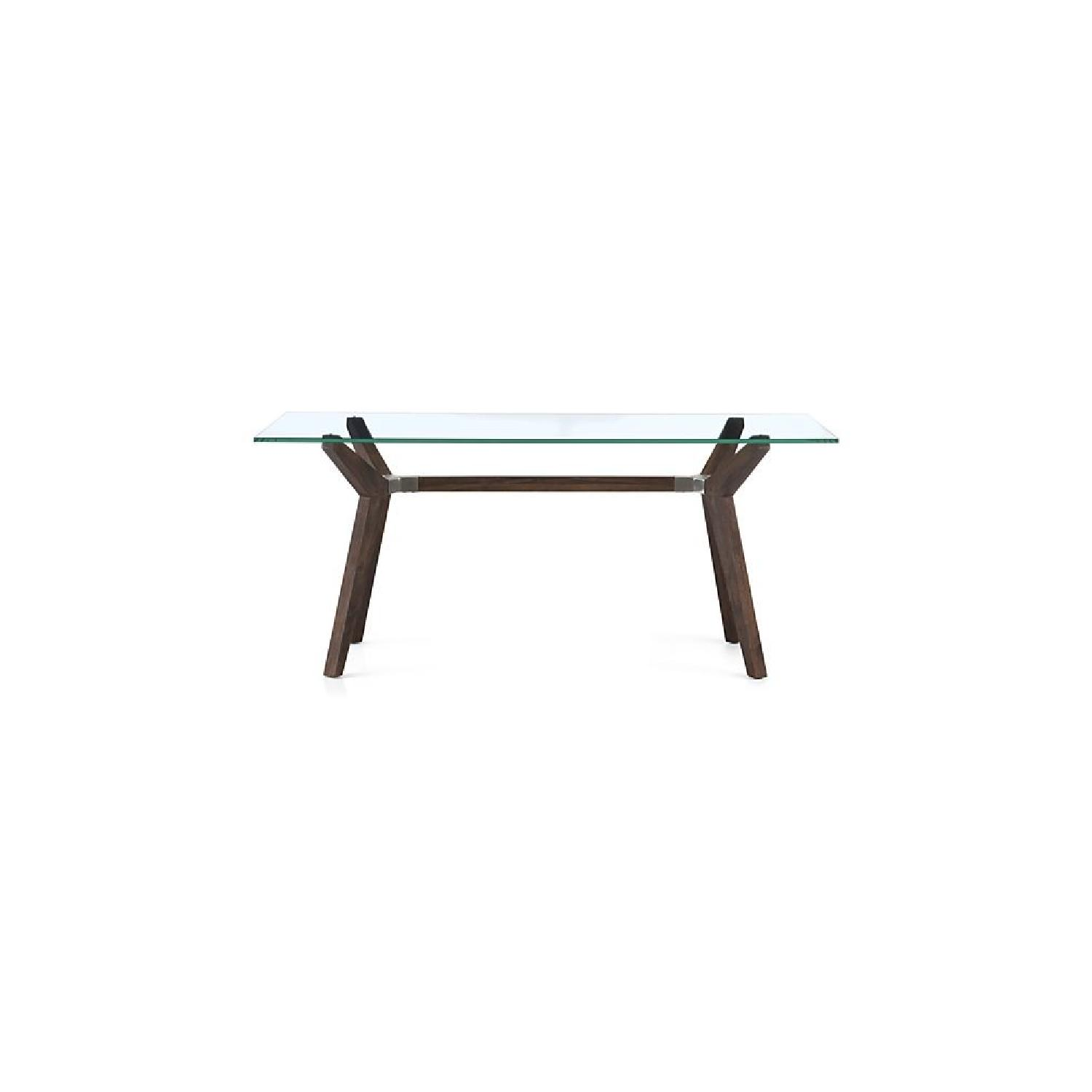 Crate U0026 Barrel Strut Bourbon Glass Top Table ...