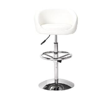 Zuo Concerto Modern White Barstools
