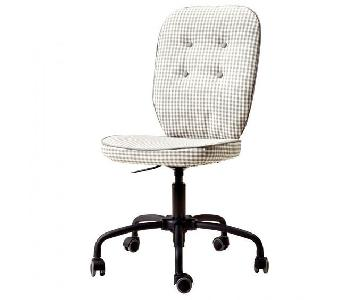 Ikea Lillhojden Desk/Office Swivel Chair in Gray Gingham