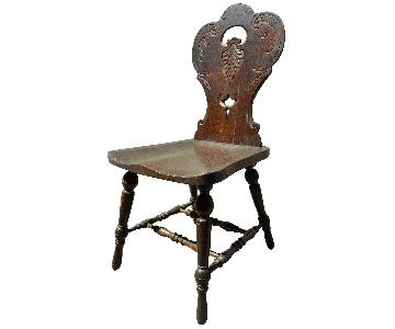 Antique Carved Hall Chairs