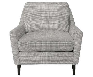 West Elm Everett Chair & Ottoman