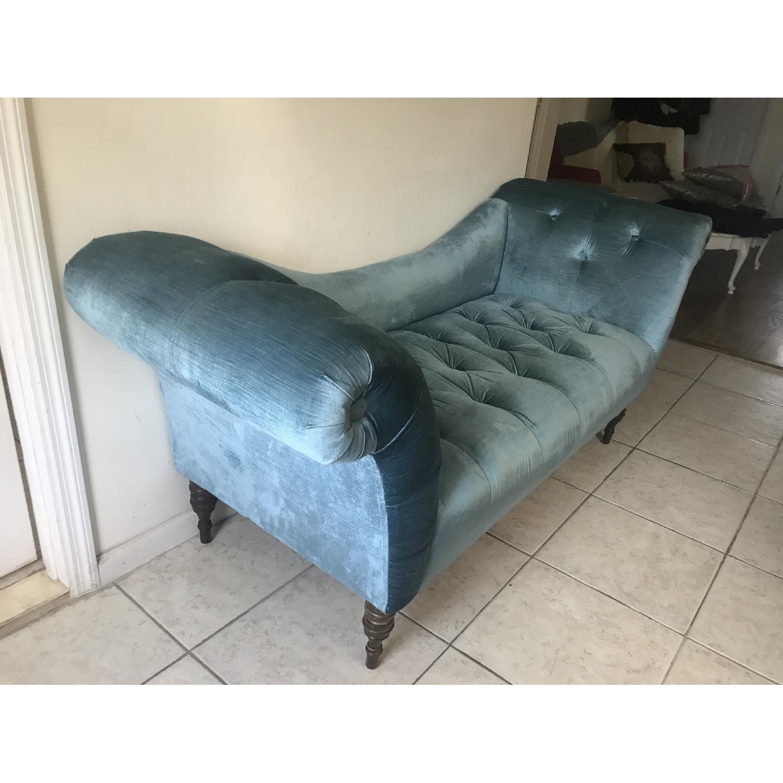 ... Urban Outfitters Antoinette Turquoise Velvet Sofa 1 ...