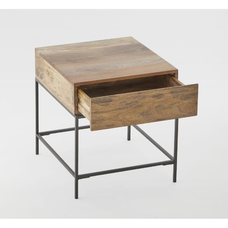 ... West Elm Industrial Storage Side Table 0 ...