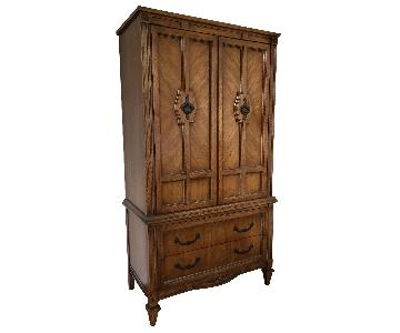 American Signature Hand Crafted Walnut Armoire