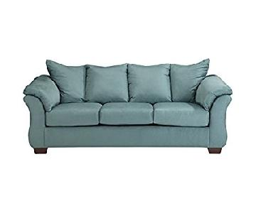 Ashley Darcy Sofa in Sky Blue