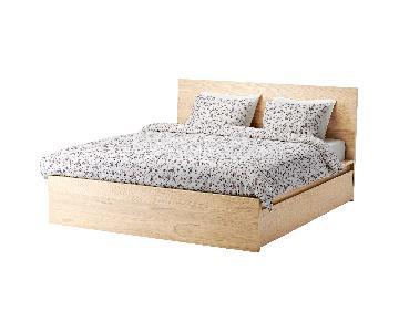 Ikea Malm Full Bed Frame in Birch w/ Storage