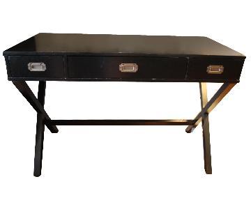 Mid Century Modern Black Writing Desk
