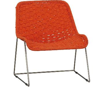 CB2 Strand Orange Woven Fabric Chair