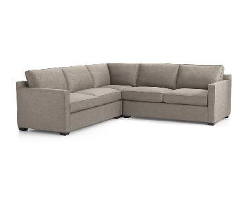 Crate & Barrel Davis 3-Piece Sleeper Sectional Sofa