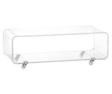 CB2 Peekaboo Acrylic Media Console/Coffee Table