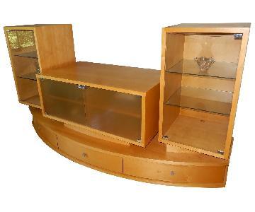 Corner Furniture Wood Wall Unit/Entertainment Center