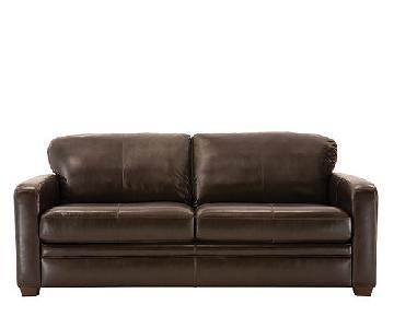 Raymour & Flanigan Trent Leather Sofa