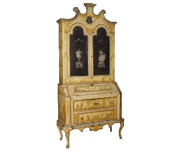 20th Century Venetian Trumeau in Lacquered & Painted Wood