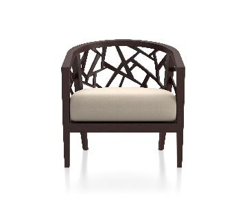 Crate & Barrel Ankara Chair w/ Cushion