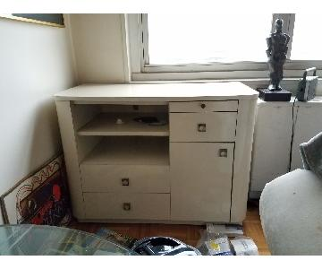 Deco style media cabinet and chest