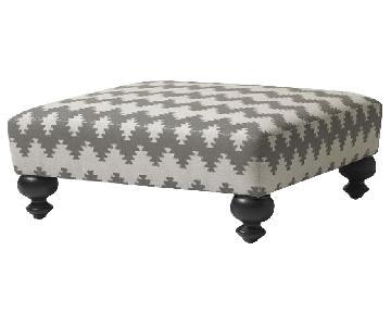 West Elm Essex Custom Upholstered Ottoman