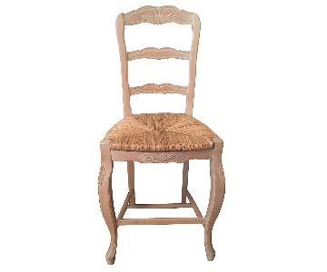 French Country Ladder Back Bar Stool w/ Rush Seat