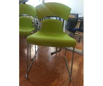 Ikea Green Plastic Office Chairs