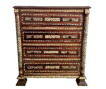 Antique Mother of Pearl Handmade Moroccan 8-Drawer Dresser