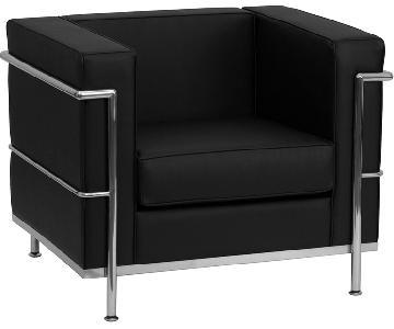 Le Corbusier LC2 Replica Black Leather Chair