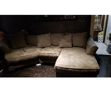 2-Piece Microsuede Sectional Sofa