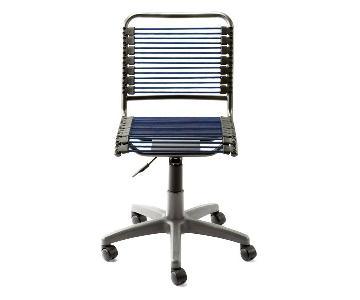 Container Store Blue Bungee Office Chair