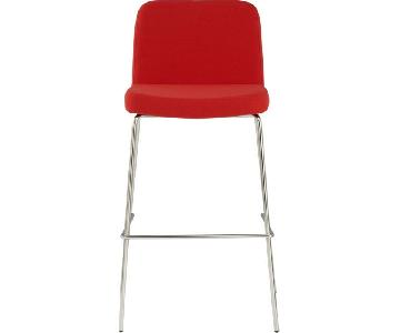 CB2 Charlie Red Bar Stools