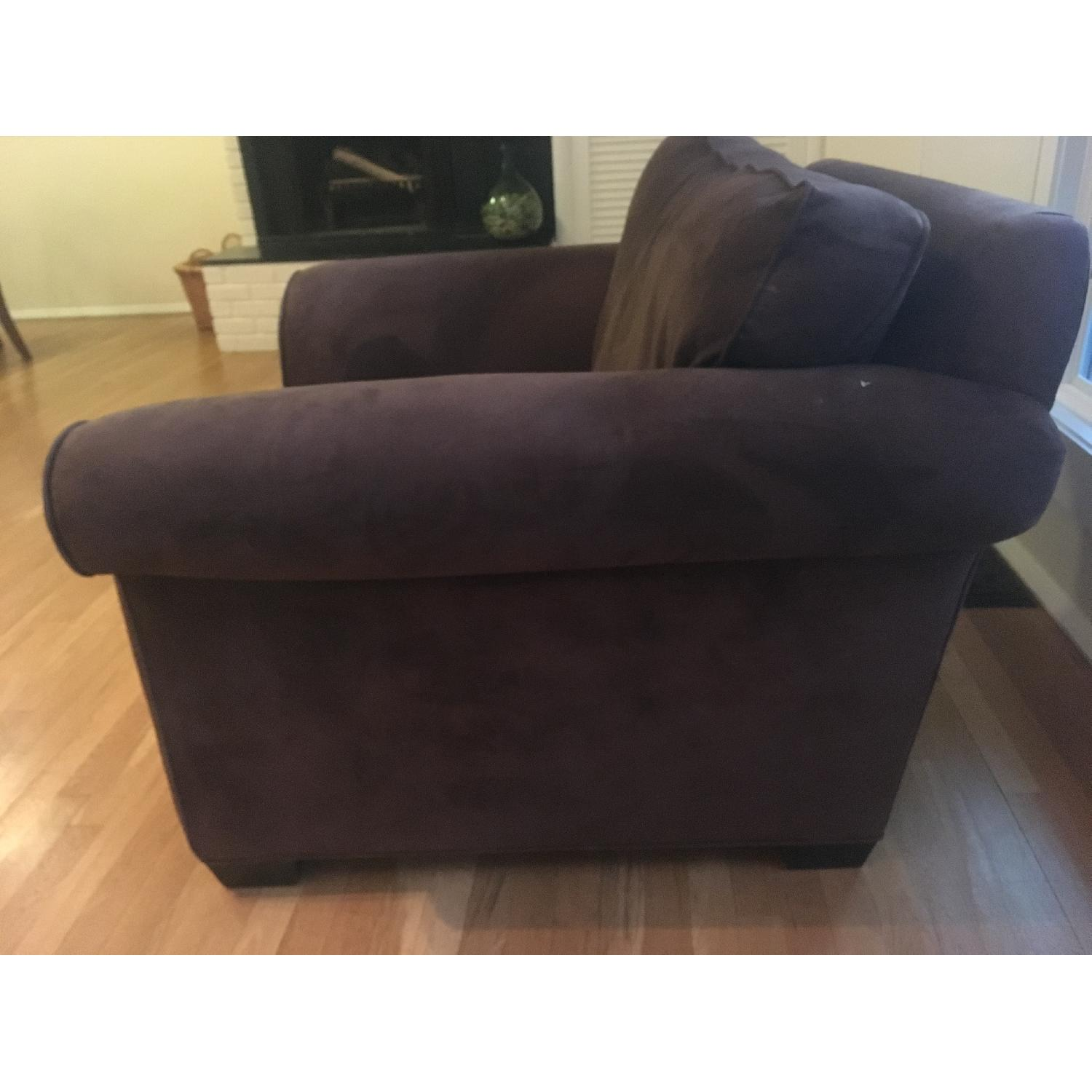 ... Pottery Barn Oversized Suede Chair 1 ...