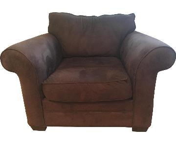 Pottery Barn Oversized Suede Chair
