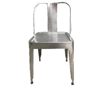 Vintage Industrial Metal Folding Chair