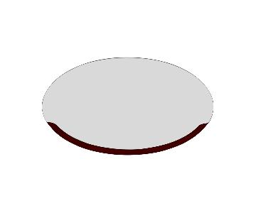 Art Deco-Style Wood Fading Oval Mirror