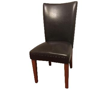 Dark Brown Cushioned Dining Chair