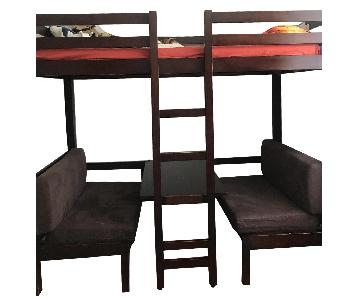 Coaster Convertible Twin over Twin Workstation Loft Bunk Bed