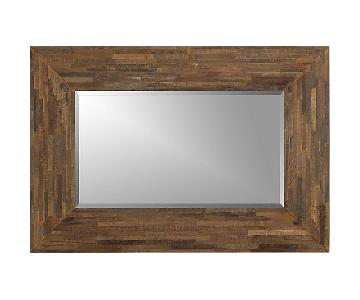 Crate & Barrel Seguro Wooden Mirror