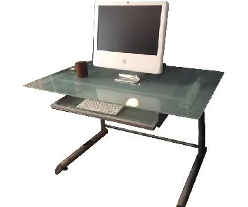 Glass & Metal Computer Desk
