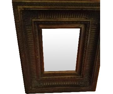 ABC Carpet & Home Vintage Beveled Mirror in Gold Finish
