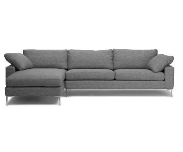 Article Nova Gravel Gray Sectional Sofa