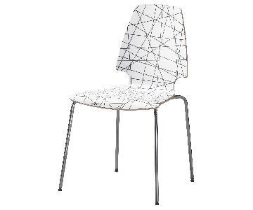 Ikea Vilmar Black & White Striped Chairs