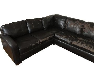 Jennifer Convertibles Leather Sleeper Sectional Sofa
