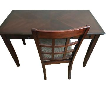 Gothic Cabinet Craft Plymouth Cherry Wood Desk & Chair