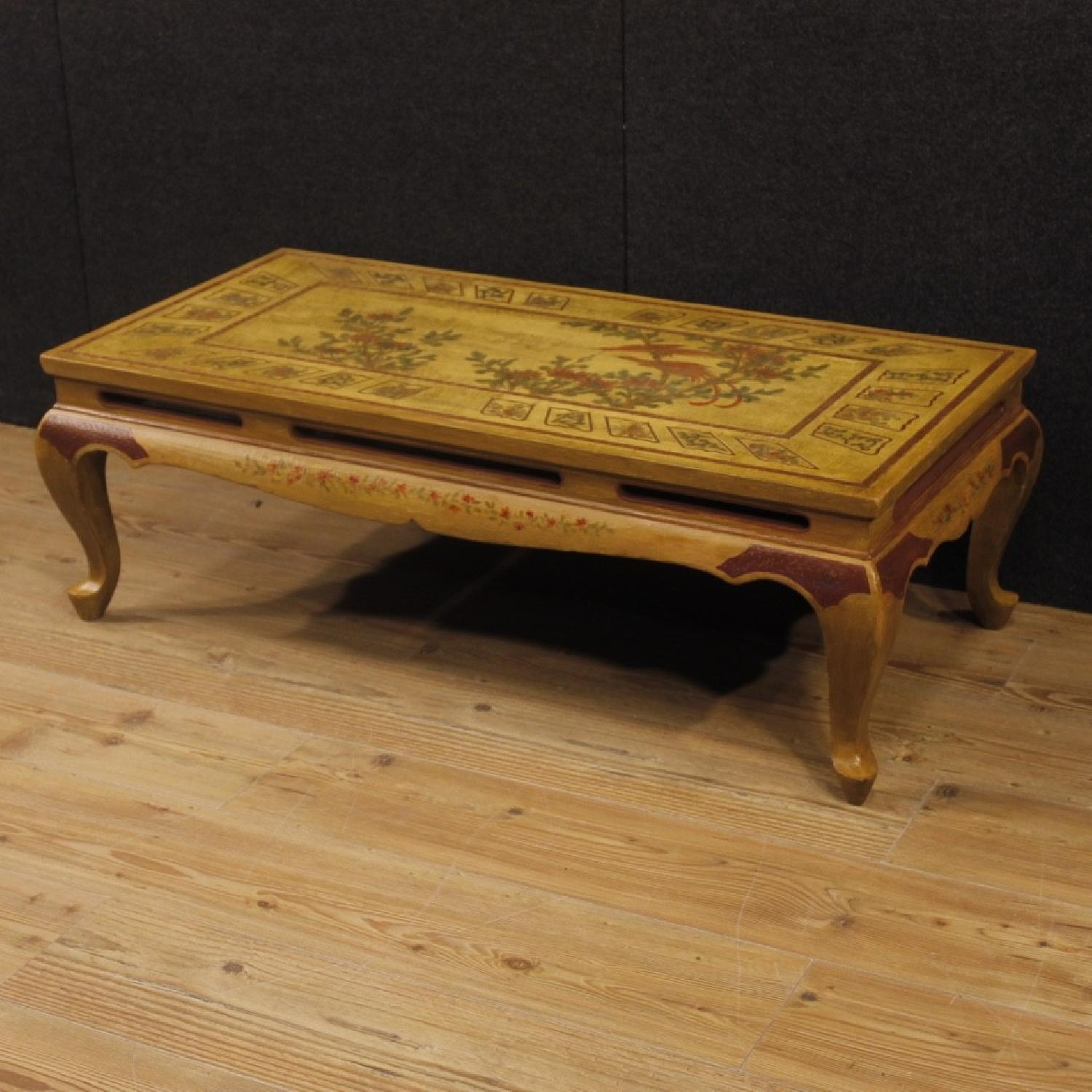 ... French Coffee Table In Lacquered Painted Chinoiserie Wood 0 ...