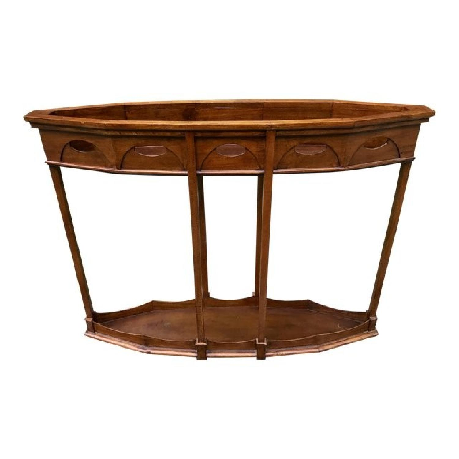 Vintage Ornate Console Table W/ Recessed Top ...